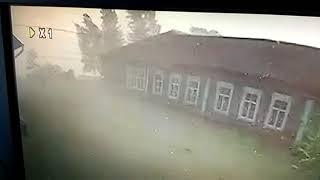 В якутском селе ураган с корнем выдрал дерево