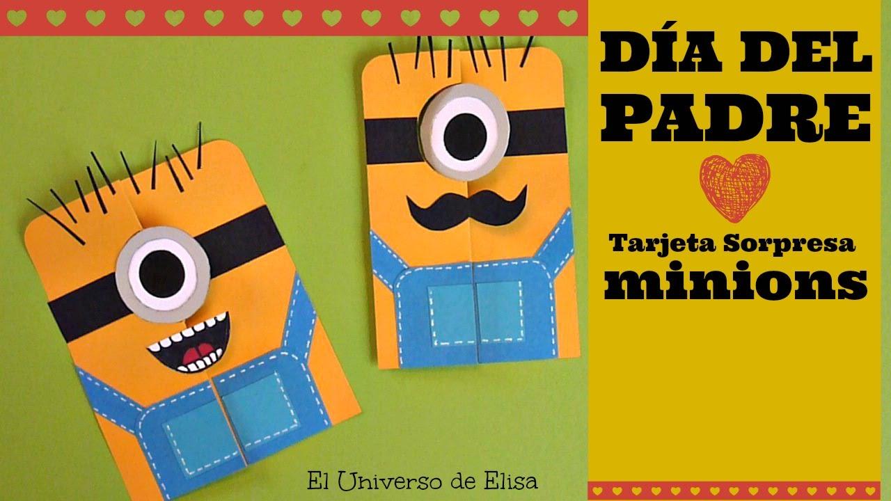 Manualidades para el Día del Padre, Tarjeta para el Día del Padre, Tarjeta Minions
