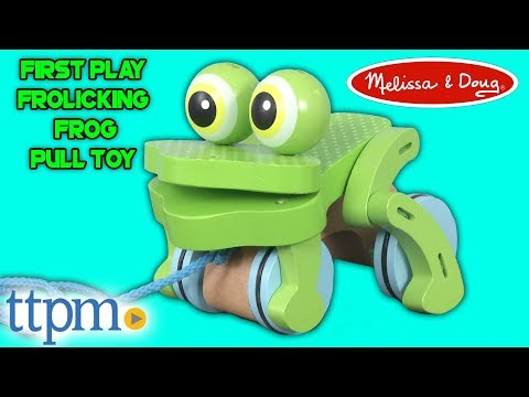 First Play Frolicking Frog Pull Toy from Melissa & Doug