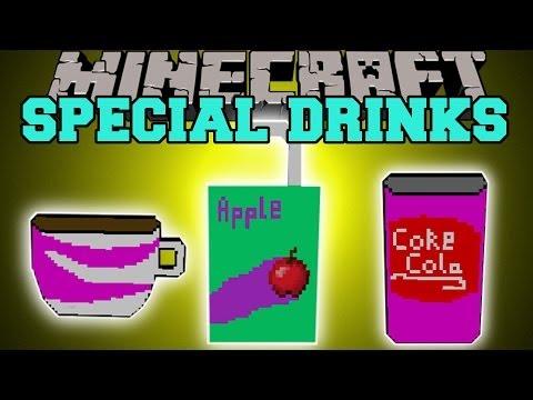 Minecraft: SPECIAL DRINKS (SODA, COFFEE, TEA, JUICE & MORE) Mod Showcase