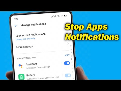 How To Turn Off App Notifications On Android | Stop Notifications