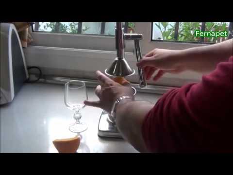 Exprimidor Jugo Manual Metálico Aluminio Naranja