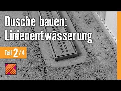 Version 2013 Bodengleiche Dusche einbauen: Linienentwässerung - Kapitel 2: Einbau |