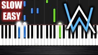 Alan Walker   Faded   SLOW EASY Piano Tutorial By PlutaX