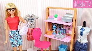 Кукла Барби Письменный Стол и Одежда Распаковка Новый Набор Игрушки для девочек