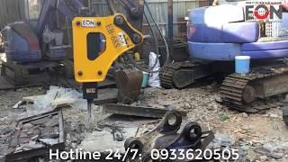 Búa đập đá thủy lực lắp xe đào - công ty EON
