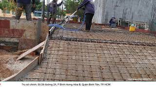 Cách bố trí thép sàn tầng trệt biệt thự 1 lầu tại Bình Phước