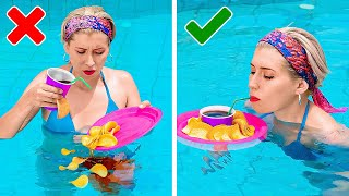 Best Swimming Pool Hacks    Everyday Hack For Hot Days