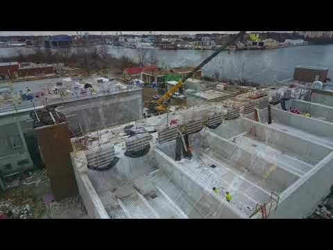 February 2019 Aerial Progress Video Peirce Island WWTF Project