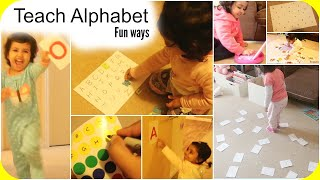 15 FUN ways to Teach Alphabet to young toddlers