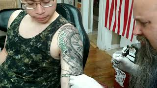 Filipino/Polynesian Tattoo Timelapse