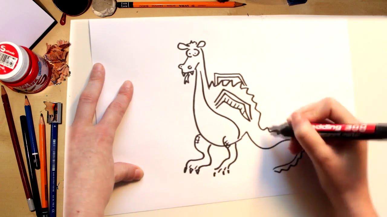 Como desenhar um Dragão - desenhos para crianças