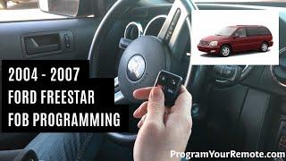 How To Program A Ford Freestar Remote Key Fob 2004 - 2007