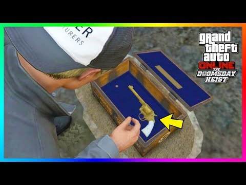GTA Online - How To Complete The Secret Treasure Hunt & Unlock The Gold Double Action Revolver!