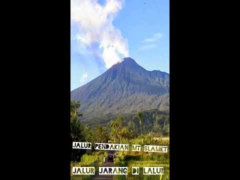 jalur baru pendakian gunung slamet penuh kabut waww kaskus
