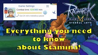 Ragnarok Mobile: Stamina and How to make use of it efficiently!