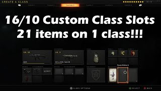 Black Ops 4 Glitch Tutorial: 6 Attachments and 6 Perks on 1 class! 16/10 slot used (OVERPOWERED!)