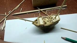 Мини-кораблик своими руками из дерева!!Как Сделать???