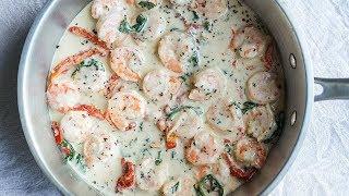 Keto One Pot Shrimp Alfredo Recipe