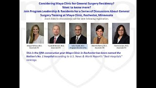 Mayo Clinic General Surgery Residency - Program Overview