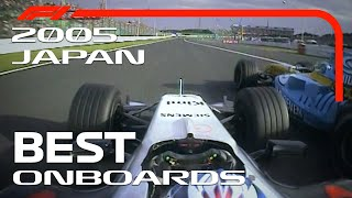 Kimis Charge, Alonso At 130R And More | Emirates Best Onboards | 2005 Japanese Grand Prix