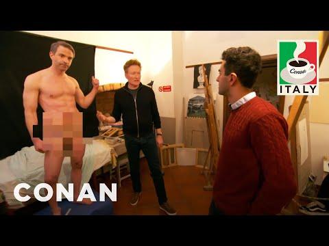 Conan v Itálii #3: Jordan jako nahý model