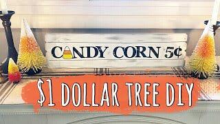 $1 Dollar Tree Fall / Halloween DIY! | Candy Corn Sign | 2020