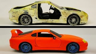 Repair Abandoned Toy Car 3.Toyota Supra 1995