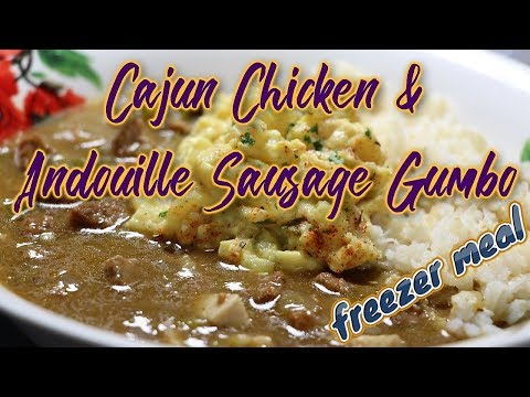 Cajun Chicken and Andouille Sausage Gumbo (Easy Freezer Meals)