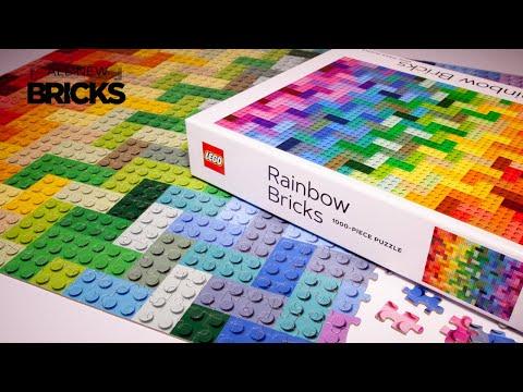 Vidéo LEGO Objets divers 9781797210728 : Puzzle LEGO Rainbow Bricks 1000 pièces