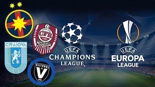 CU CINE AU PICAT ECHIPELE ROMANESTI IN EUROPA - CFR Cluj, FCSB, Craiova Si Viitorul !!!