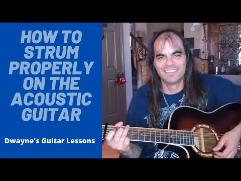 How to strum better on the acoustic guitar.