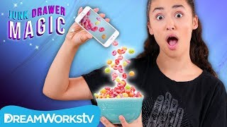 Cell Phone Cereal Trick   JUNK DRAWER MAGIC
