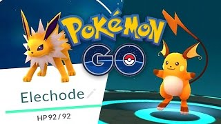 Raichu  - (Pokémon) - Pokemon GO: Evolving Pikachu into Raichu and ELECHODE EASTER EGG!