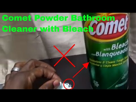 ✅  How To Use Comet Powder Bathroom Cleaner with Bleach Review
