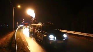 Strażacka Jazda Nocą dla Hani - przejazd kolumny