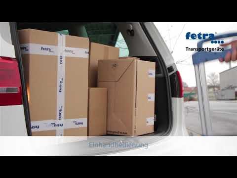 Fetra Paketroller Höhe 1090 mm, mit Polymer-Rädern 170 x 35 mm, klappbar-youtube_img