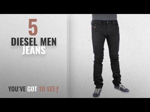 Top 10 Diesel Men Jeans [ Winter 2018 ]: Diesel Mens Jeans Thavar OR84A Slim-Skinny Black Jeans (31W