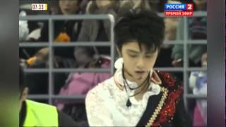 2014-11-08 - Cup of China 2014 - Столкновение Юдзуру Ханю и Хань Яня