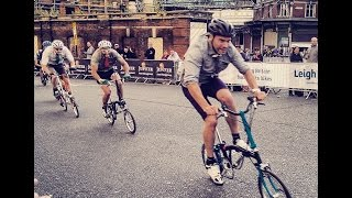 Folding Bike final at the London Jupiter Nocturne Race June 6th 2015