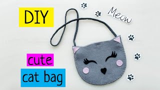 EASY CRAFT YOU CAN MAKE CUTE FELT CAT BAG DIY TUTORIAL