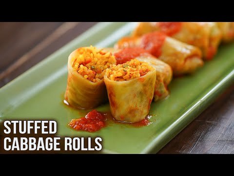 How To Make Stuffed Cabbage Rolls | Cabbage Rolls Recipe | Best Starter Recipe | Ruchi