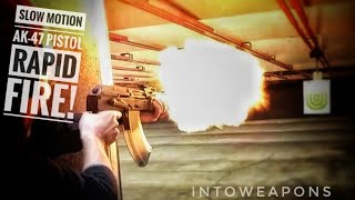 Rapid Fire Slow Motion:  Mini Draco AK Pistol!