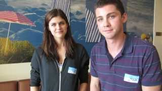 """Logan Lerman, » 12 августа Логан и Алекс посетили детский госпиталь в Лос-Анджелесе. Показали фильм """"Перси Джексон и море чудовищ"""" для маленьких пациентов."""