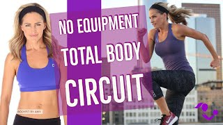 36 Minute No Equipment Total Body Circuit Workout:  At Home Bodyweight Workout For Strength & Cardio