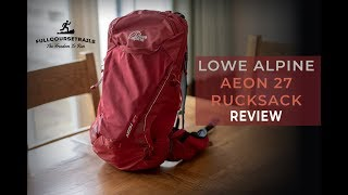 Lowe Alpine Aeon 27 Rucksack Review - Full Course Trails