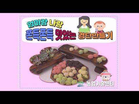 [동글동글 오색경단]아이들과 함께 우리 쌀 건강간식 만들어요!