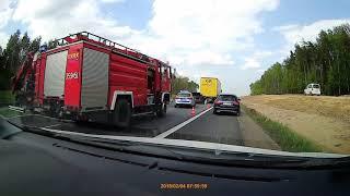 Wypadek Na A1 - Mercedes Wbił Się W Naczepę Ciężarówki