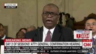 Willie Huntley On His Relationship With Sen. Sessions