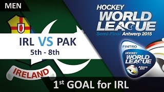 Ireland take the lead as Sothern puts a hard flick down the middle IRL 1-0 PAK